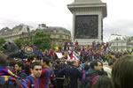 Celebrando en Trafalgar Square