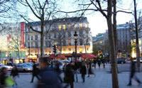 El centro de la ciudad de París, un sitio lleno de bulla y movimiento