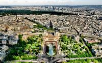 La Torre Eiffel ofrece una vista panorámica de París increíble